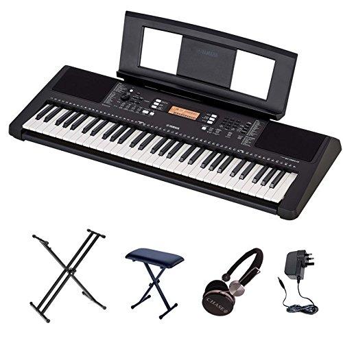 Yamaha PSR-E363 Ensemble clavier avec support double X, banc et casque