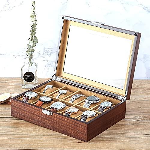 SMOOTHLY Caja de Reloj de Madera con 10 Relojes, Caja de Reloj, Caja de joyería para Mujeres, Adecuado para Dormitorio, Estudio, tocador