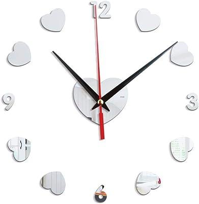 New 3D Wall Clock DIY Clocks Reloj De Pared Quartz Watch Living Room Simple Love Circular