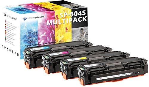4 Schneider Printware Toner | 35% höhere Druckleistung | kompatibel zu Samsung CLT-P504C für Samsung CLP-410 CLP-415N CLP-415NW CLX-4190 CLX-4195FN CLX 4195 FW N Xpress C1810W C1860FW