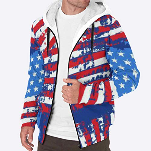 YxueSond Heren Volledige Zip Hoodies Sweatshirt Winter Patroon Jas