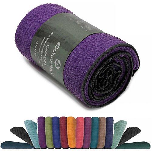 Rutschfestes Yogahandtuch mit Silikon-Dots (Noppen) »Chandra« Anti-Slip Oberfläche Premium Yoga Towel BZW. Sporthandtuch. Größe ca. 183 x 62 cm/erhältlich in den Trendfarben: lila
