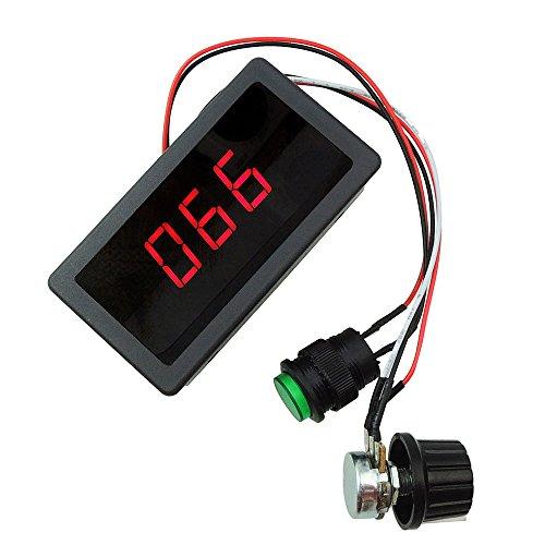Régulateur de vitesse avec écran numérique - LED - Courant continu - 6 V, 12 V et 24 V maximum 8 A pour le moteur