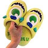 Y-PLAND Zapatillas muñeca Ojos Grandes Dibujos Animados, Zapatillas Felpa Divertidas Antideslizantes Interior, Masculinas y Femeninas, Zapatos de algodón Medio Calientes caseros