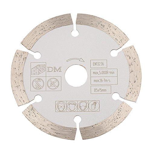 Cirkelzaagblad, 85 mm x 15 mm diamant-cirkelzaagblad zaagblad voor roterende gereedschappen, houtbewerking
