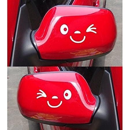 Ogquaton Auto Lustige Reflektierende Aufkleber Flügeltür Spiegel Lustige Aufkleber Aufkleber Weiß Hohe Qualität Küche Haushalt