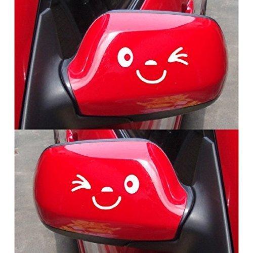 Ogquaton Auto Lustige Reflektierende Aufkleber Flügeltür Spiegel Lustige Aufkleber Aufkleber Weiß Hohe Qualität