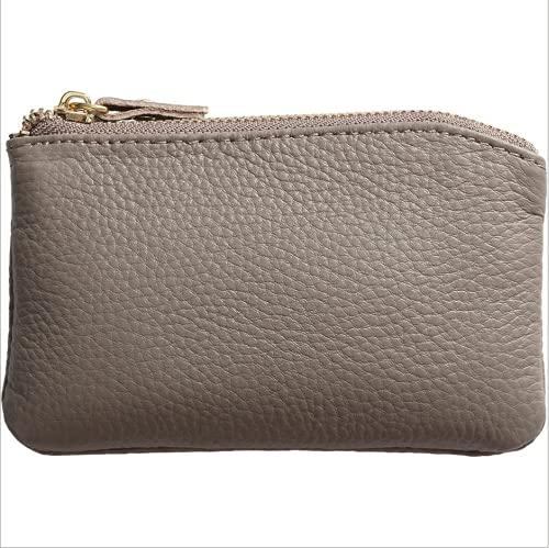 Huhushop bolso de cuero femenino Qaz - 5170 mini - cuero de vaca corto de doble cremallera llave bolso simple bolsillo de monedas