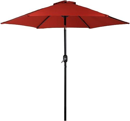 discount Sunnydaze 2021 7.5 Foot Outdoor Patio Umbrella with Tilt & online Crank, Aluminum online sale
