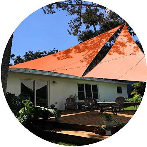 YYSDH Triangle Sun Shelter Wasserbeständige Sonnenblende Segel Markisenzelt Camping Plane wasserdichte Sonnenblende für Spades Beach-4x4x4m Orange