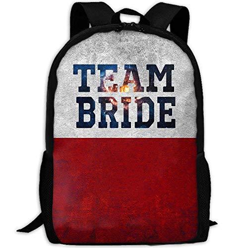 TRFashion Mochila Team Bride Print Custom Casual School Bag Backpack Multipurpose Travel Daypack