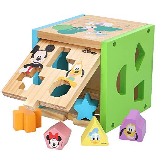 Disney - Cubo encajables bebé 14 piezas Figuras geoméricas y colores - Juguetes bebés 1 año Juego educativo niños 1 2 años - Desarrollo de habilidades motoras Bloques infantiles Disney