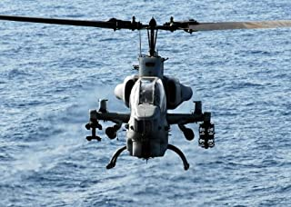 AH-1W Super Cobra Helicopter Poster Photo U.S. Military Posters 12x18