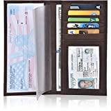 Check Book Cover for Men and Women - Leather Standard Register Checkbook Case (Brown Crazy Horse)