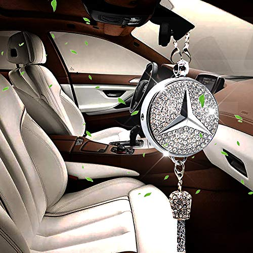VILLSION Car Smell Air Fresh Freshener Fragrance Oil Diffuser Rearview Mirror Perfume Pendant with Gift Box
