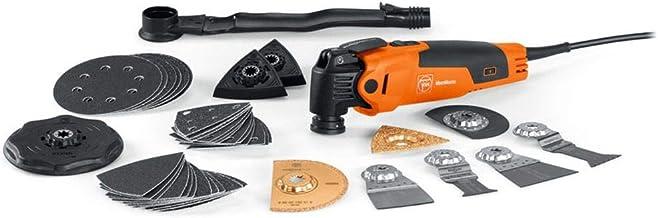 FEIN FMM 350 QSL Multi-Tool (350 W, Krachtige Motor, QuickIN-Snelspansysteem, Incl. Schuur- en Zaagbladen, Spatel, Rasp, ...