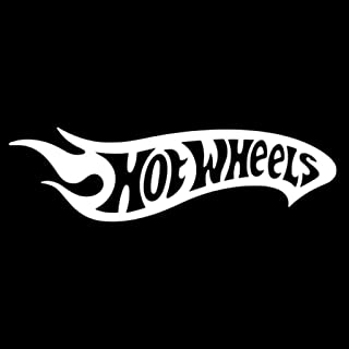 Hotwheels Decal Vinyl Sticker|Cars Trucks Vans Walls Laptop| White |7.5 x 2.5 in|LLI065