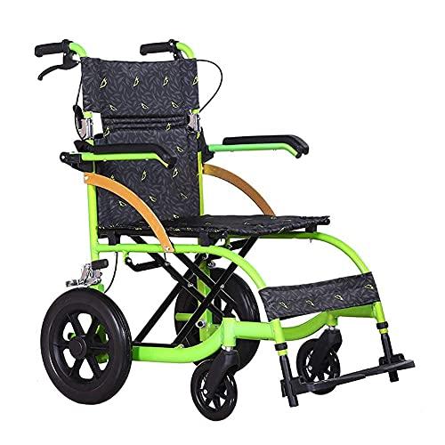 Sillas de Ruedas propulsadas por Asistente Silla de Ruedas Plegable Silla de Ruedas de Aluminio Ligero Personas Mayores con discapacidades Fácil de
