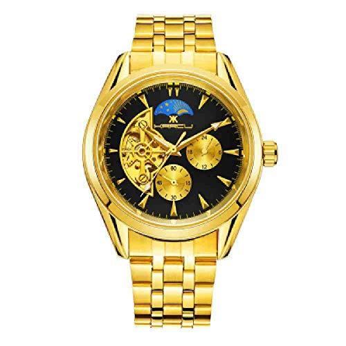 BDDLLM Reloj de Pulsera Winner Watch Men Skeleton Reloj mec�
