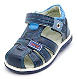 Children's Summer Boys Orthopedic Sandals Pu Leather Toddler Kids Shoes for Boys Closed Toe Baby Flat Shoes New 2019, Black+blue, 5.5 Toddler