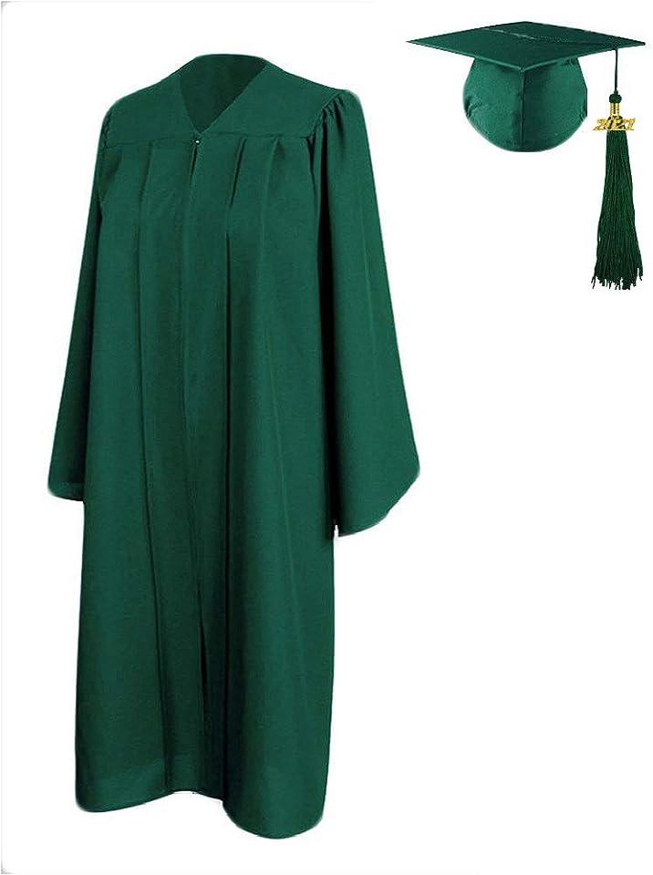 [2021 Update] HEPNA Graduation Gown Cap Tassel Set,Uniforms Matte Graduation Robe for High School and College Ceremony