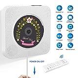 Lecteur CD Portable, Lecteur CD Mural pour Maison avec Construit Bluetooth 4.2, Radio...