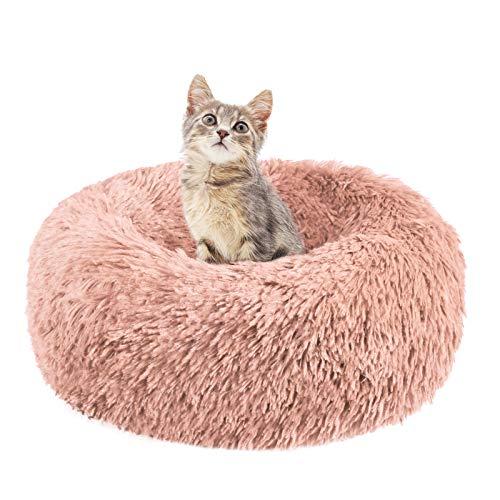 Dibiao Coussin rond pour animal domestique chaud et chaud en peluche pour chien