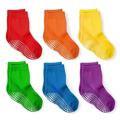 LA Active Calcetines antideslizantes - Calcetín antideslizante para recién nacido, bebé, niño y niña, calcetines para bebe antideslizantes, en múltiples colores
