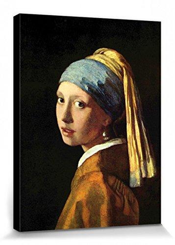 1art1 Johannes Vermeer - Das Mädchen Mit Dem Perlenohrring, 1665 Bilder Leinwand-Bild Auf Keilrahmen | XXL-Wandbild Poster Kunstdruck Als Leinwandbild 40 x 30 cm