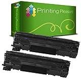 Printing Pleasure Compatible Cartucho de tóner para HP Laserjet P1505 P1505N P1506 M1120MFP M1120N M1520 M1522MFP M1522N M1522NF Canon LBP-3250 - Negro, Alta Capacidad