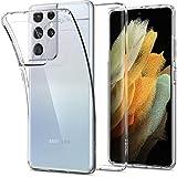 Spigen Liquid Crystal Hülle Kompatibel mit Samsung Galaxy S21 Ultra 5G -Crystal Clear