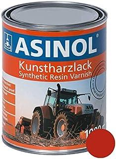 ASINOL FELLA Rot 1.000 ml Kunstharzlack Farbe Lack 1l Liter Dose