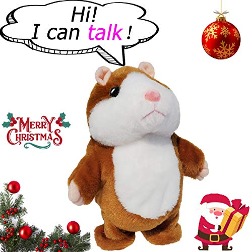 Upgrade Version Talking Hamster Mouse Toy - Repeats What You Say and Can Walk - Electronic Pet Talking Plush Buddy Hamster Mouse for Kids Gift Party Toys
