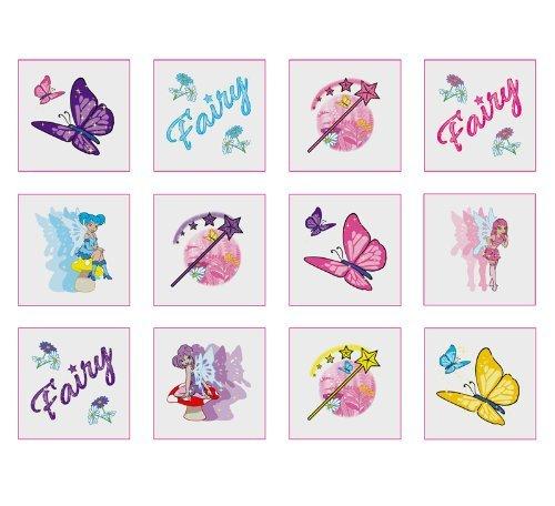 12 Tatouage Temporaires Papillon et Contes