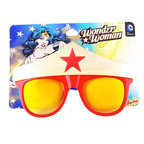 Sunstaches DC Comics Wonder Woman Star Sunglasses, Party Favors, UV400