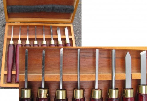 Coltello tornitura HSS-mini set 8 pz. legno utensili per tornio scalpelli