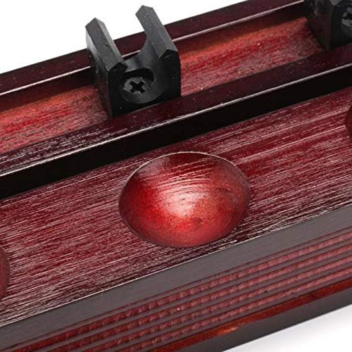 cueball16 2 PIECE MAHOGANY POOL or SNOOKER Cues WALL Mounted Cue Rack HOLDER for 8 CUES