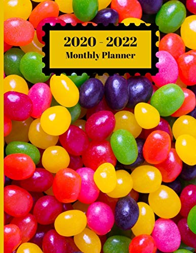 2020-2022 Monthly Planner: Jelly Beans Candy Colorful...