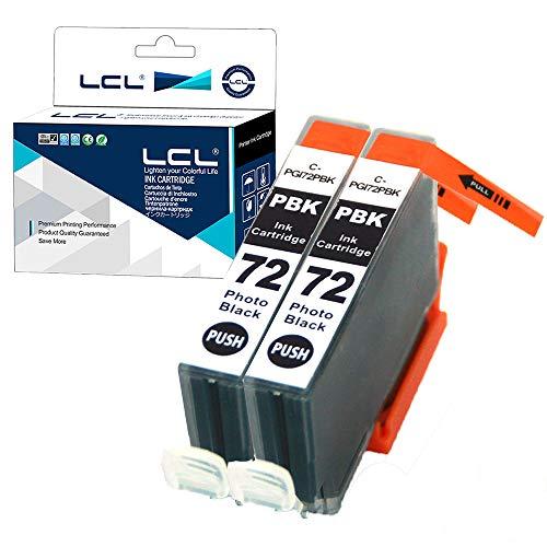 LCL Cartucho de Tinta Compatible PGI-72 PGI-72PBK Reemplazo para Canon PIXMA Pro-10 (2 Foto Negro)
