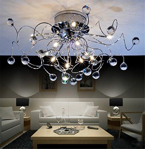 Lampadario a sospensione di design moderno e minimalista, per soggiorno o camera da letto, moda creativa, 11 x G4, ampiezza della base 20cm, diametro 73cm (lampadine incluse)