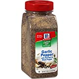 Coarsely ground garlic with black pepper Bold California Style texture No MSG Added Great in salads, vegetables and mashed potatoes USAGE TIP: Perfect for seasoning hamburger patties