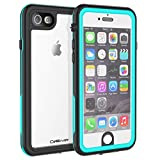 CellEver Compatible with iPhone 6 / 6s Waterproof Case Shockproof IP68 Certified SandProof Snowproof Full Body Protective Clear Transparent Cover Designed for iPhone 6 / 6s (4.7 Inch) KZ Ocean Blue