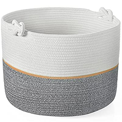 YUESUO XXL Extra Large Cotton Rope Basket, 20