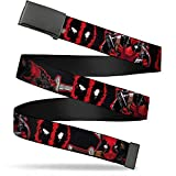 Buckle-Down mens Buckle-down Web - Deadpool 1.5' Wide Fits Up to 42' Pant Size Belt, Multicolor, 1.5 Wide Fits up 42 Pant Size US