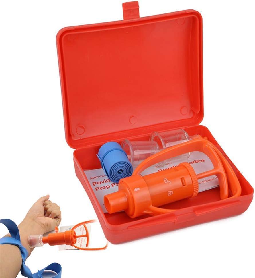 Bomba extractora Kit, mordedura de Serpiente Kit de Primeros Auxilios de Emergencia Suministros Veneno de succión de la Bomba y Sting para el Senderismo, con Mochila Camping Exploración y Aventura