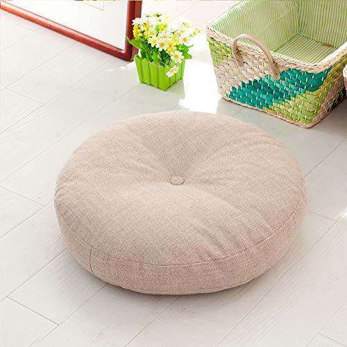 LOVRE Runde sitzkissen erhöhen verdickt für büro Stock erker Tatami Student hocker Bank Kissen Yoga Kissen natürlichen leinen futon sofakissen-A 50x50cm(20x20inch)