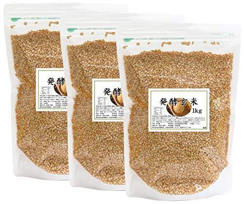 自然健康社 発酵玄米 1kg×3袋 チャック付き袋入り
