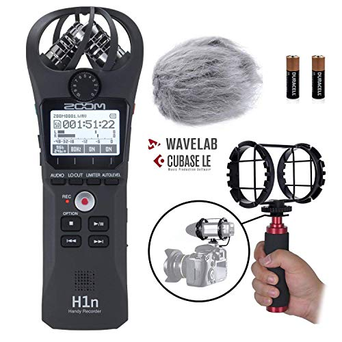 Tascam DR-07X Stereo Handheld Digital Audio Recorder /& USB Interface Bundle with Movo Camera Shockmount,Deadcat Windscreen and 32GB Micro SD Card