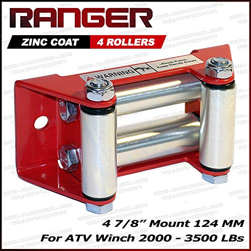 Best Price Ranger ATV Winch Roller Fairlead 4 7/8 (124MM) Mount for 2000-3500 LBs ATV Winch by Ultr...