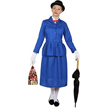 ILOVEFANCYDRESS Disfraz DE NIÑERA Victoriana para Mujer + BOMBÍN + ...